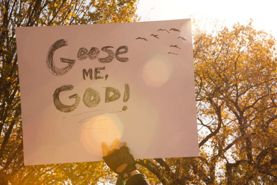 goose me, god!