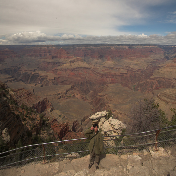 saluting guy, grand canyon