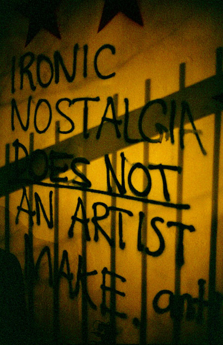 ironic nostalgia does not an artist make