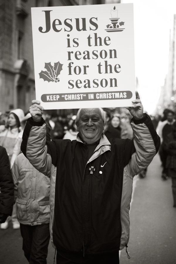jesus is the reason for the season (not a protest)