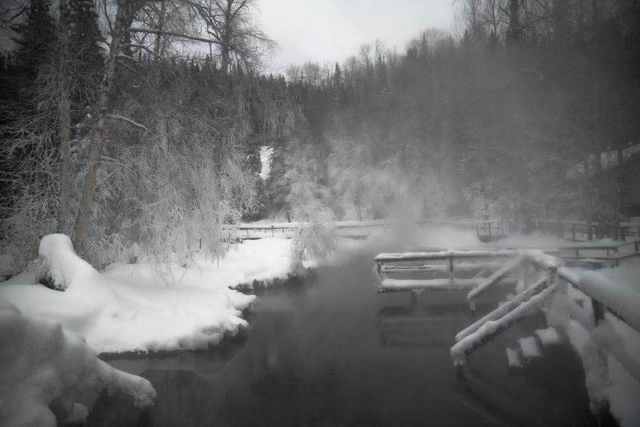 liard hot spring - minus 25