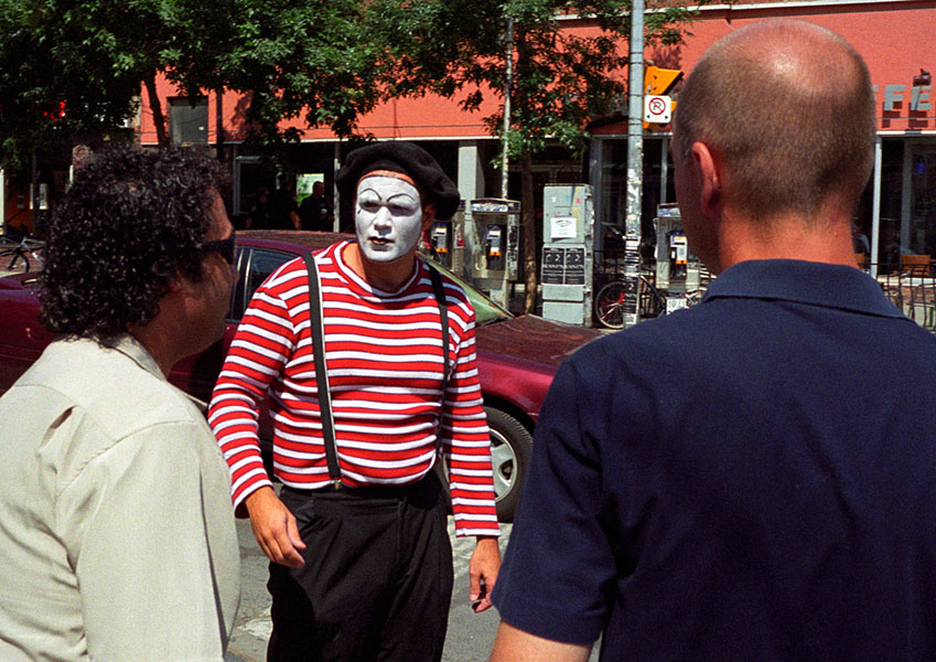 a mime encountered