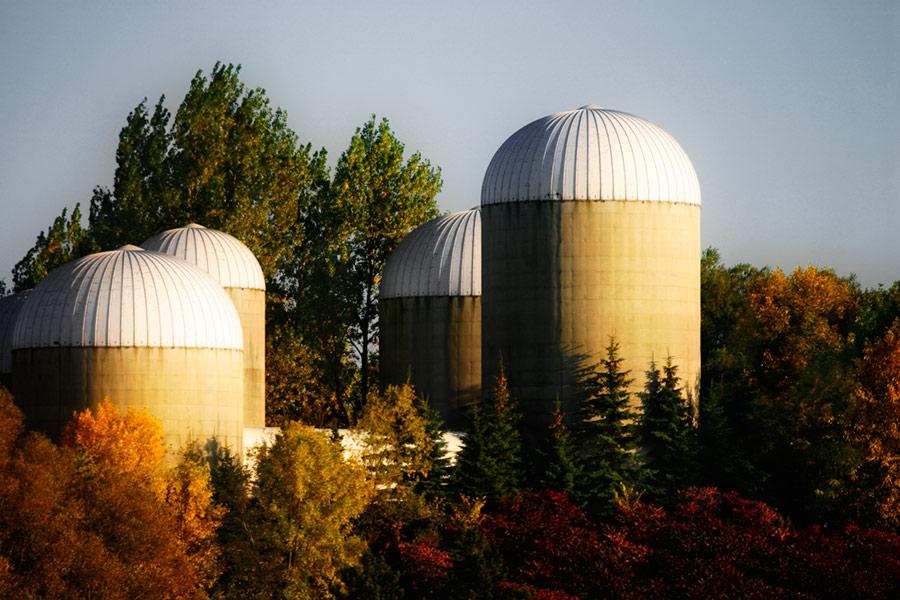 silos, or something